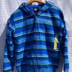Boys NWOT Quicksilver Hooded Jacket - Size M 10/12